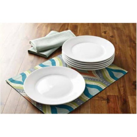 Better Homes and Gardens Round Porcelain Dinner Plates, Set of 6