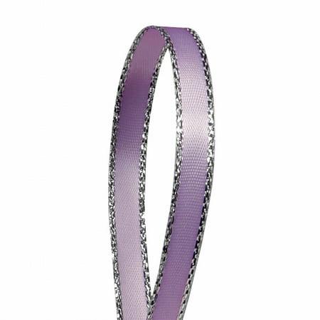 Lavender Solid Color 3/8-Inch Silver Edge Ribbon, 50-Yards](Lavender Ribbon)