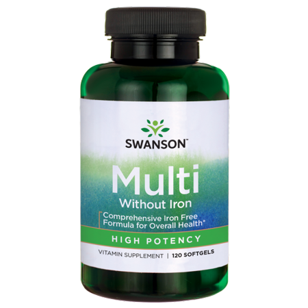 Swanson High Potency Multivitamin without Iron Softgels, 60