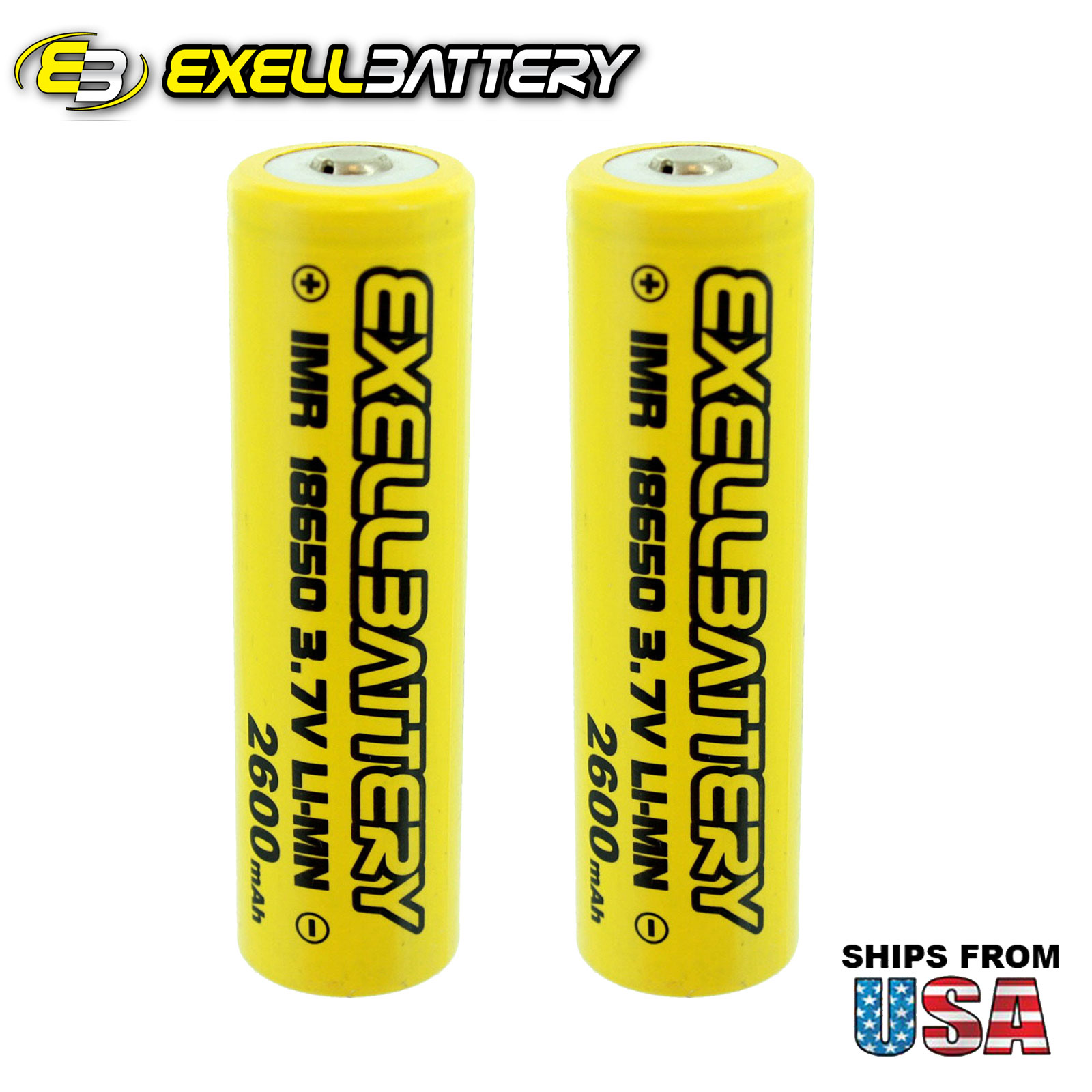 NEW 2pc IMR 18650 3.7V LiMN 2600mAh Rechargeable Button Top Battery
