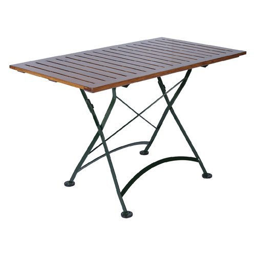 Furniture Designhouse Rectangular European Cafe Folding Table - 32 x 48 in.