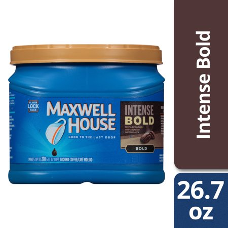 Maxwell House Intense Bold Dark Roast Ground Coffee, Caffeinated, 26.7 oz - Maxwell House Original Ground