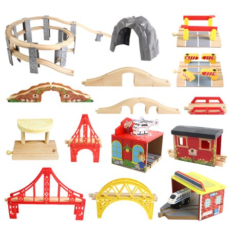 DIY Wooden Track Tools Bridge Train Rail Track Accessories Suitable for Thomas Kids Educational Toys - image 2 of 8