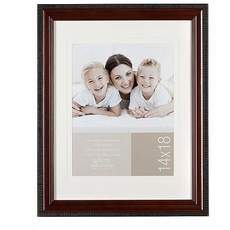 Pinnacle Frame 14x18 Mat 10x13 Mahongany Walmartcom