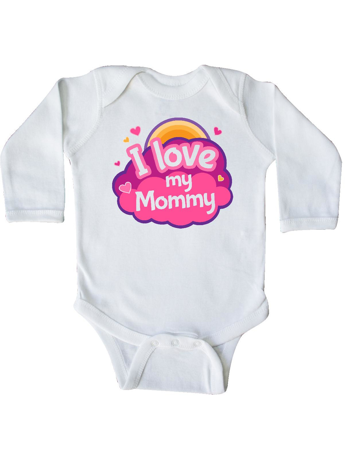 inktastic I Love My Mommy Long Sleeve Creeper