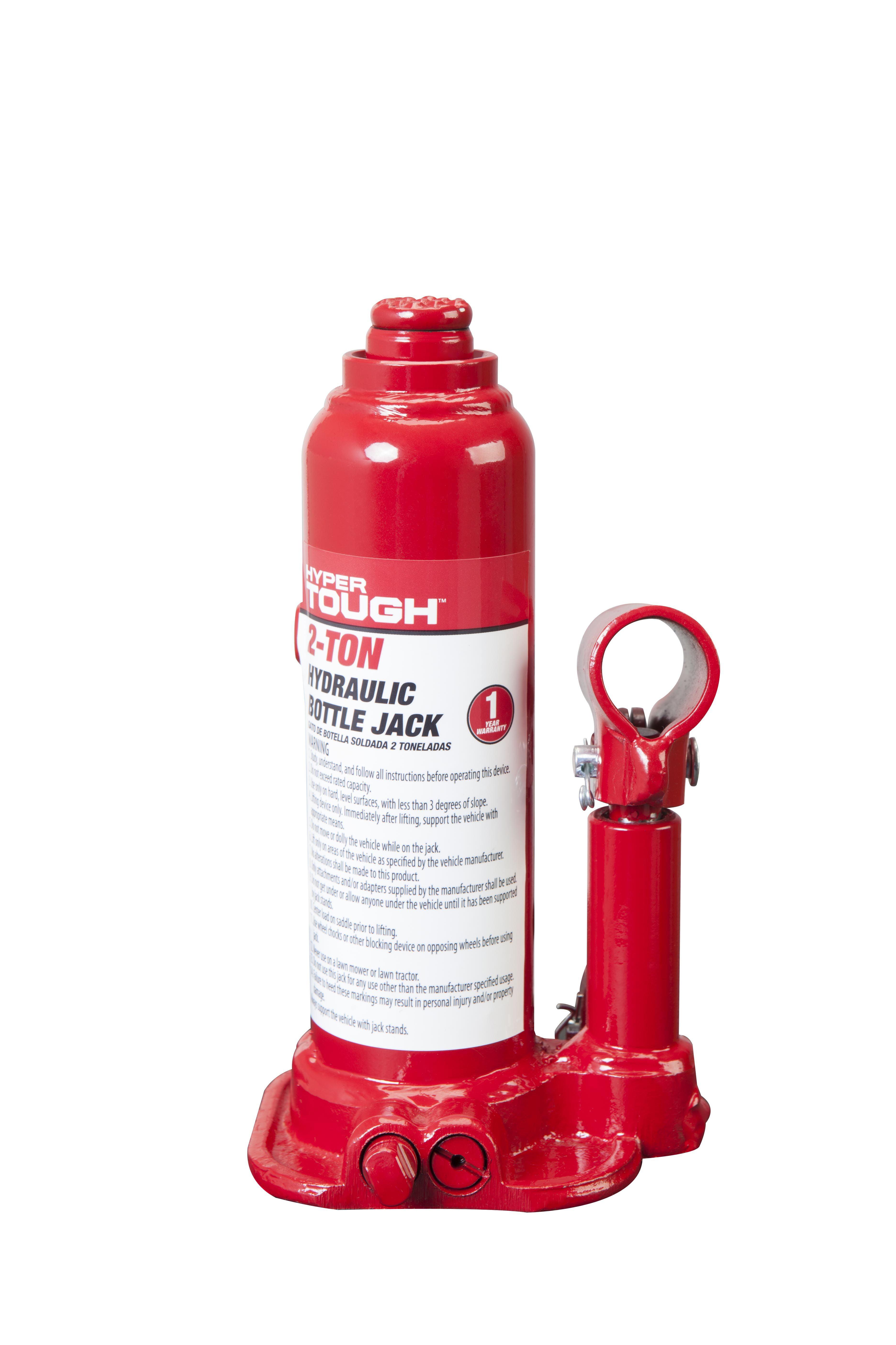 Hyper Tough 2 Ton Welded Bottle Jack Red T90203w Walmart Com Walmart Com