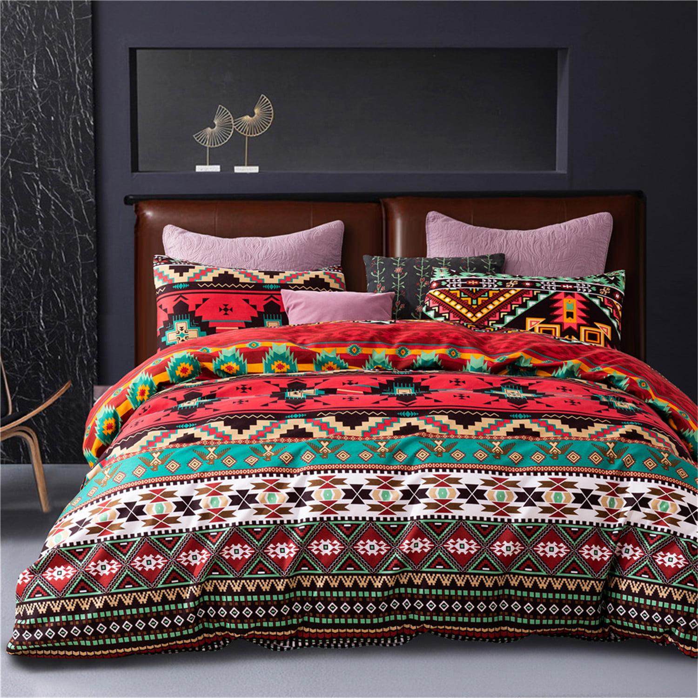 Colorful Ethnic Bohemian Geometric Duvet Cover Set Exotic Mandala Floral Striped Multicolor Microfiber Soft Bedding Set With Zipper Walmart Canada