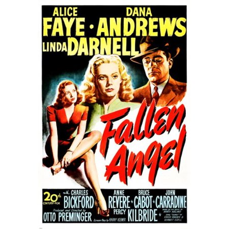 Fallen Angel Movie Poster Linda Darnell Alice Faye Sour Romance Loss 24X36](Fallen Angel Makeup Ideas)