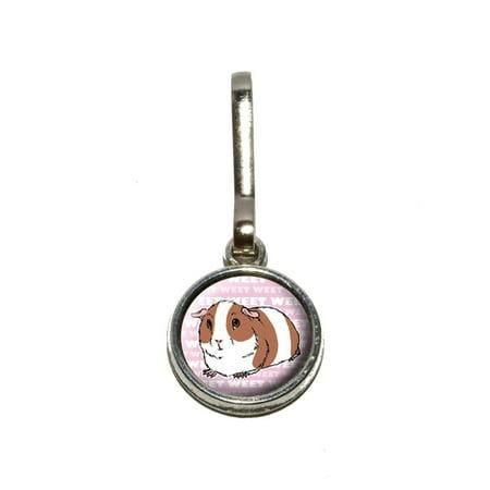 Guinea Pig - Pet Critter Pink Charm Zipper Pull