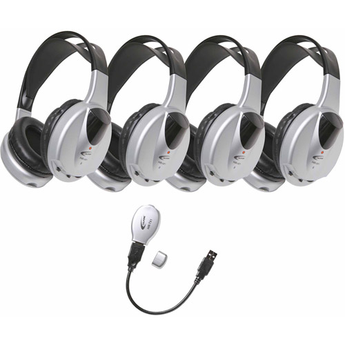 Califone HIR_KT4 4_Person Infrared Stereo_Mono Headphones with Transmitter