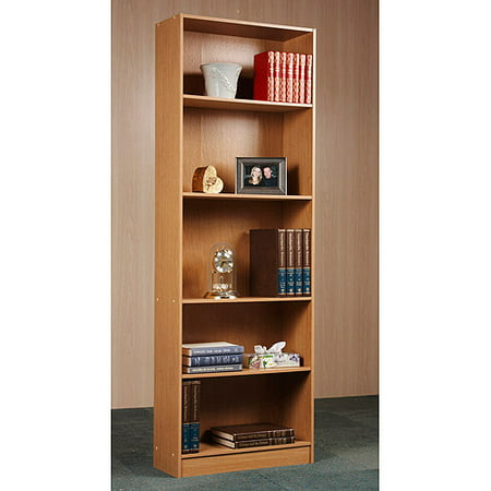 "Orion 72"" 5-Shelf Standard Bookcase, Multiple Finishes"