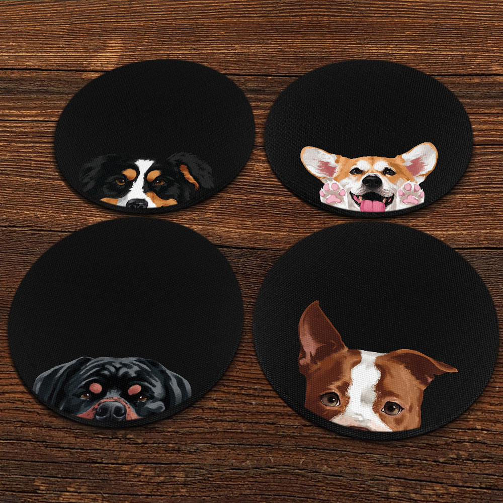 Welsh Corgi Breed of Dog Design Melamine Drinks Coaster Perfect Gift