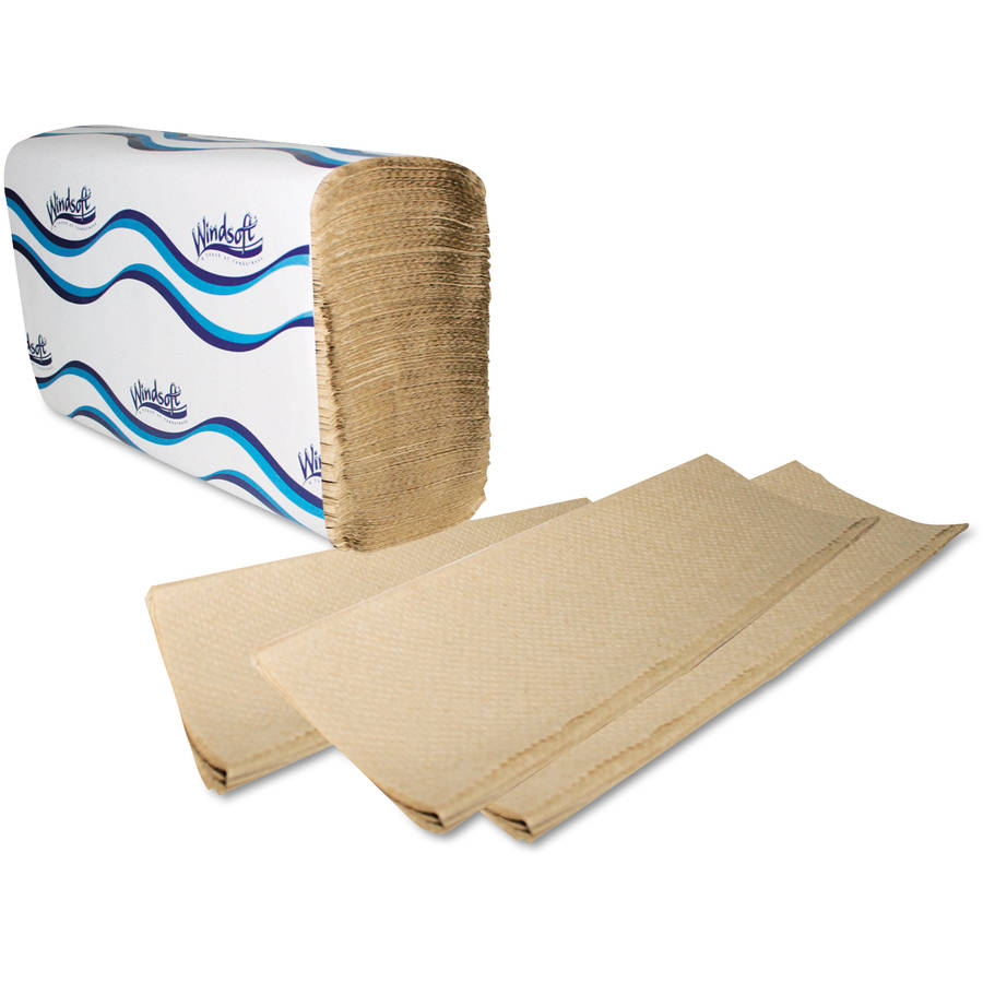 Windsoft Embossed Multifold Natural Paper Towels, 250 sheets, 16 ct