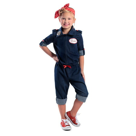 Girls Rosie The Riveter Halloween Costume - Costume Online Australia