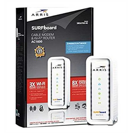 Refurbished Arris Surfboard Ac1600 Docsis 3 0 Cable Modem Router  Sbg6700ac  Certified With Comcast Xfinity  Time Warner Cable  Charter  Cox