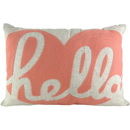 Pillows And Throws - Better Homes and Gardens Hello Heart Crewelwork Decorative Throw Pillow