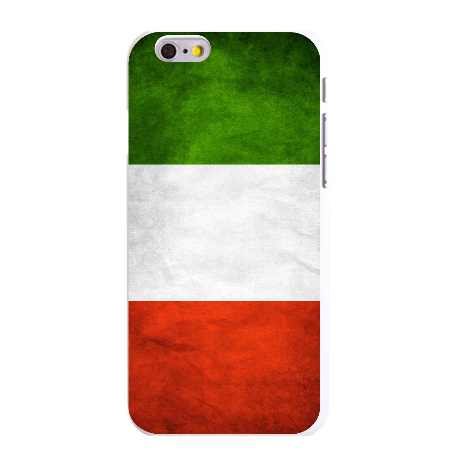"CUSTOM White Hard Plastic Snap-On Case for Apple iPhone 6 / 6S (4.7"" Screen) - Italy Old Flag"