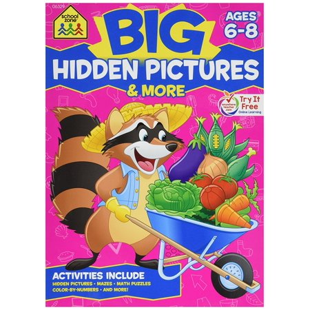 Amp Toy - SZP06329 - BIG HIDDEN PICTURES amp; MORE WORKBOOK..., By Constructive Playthings Ship from US
