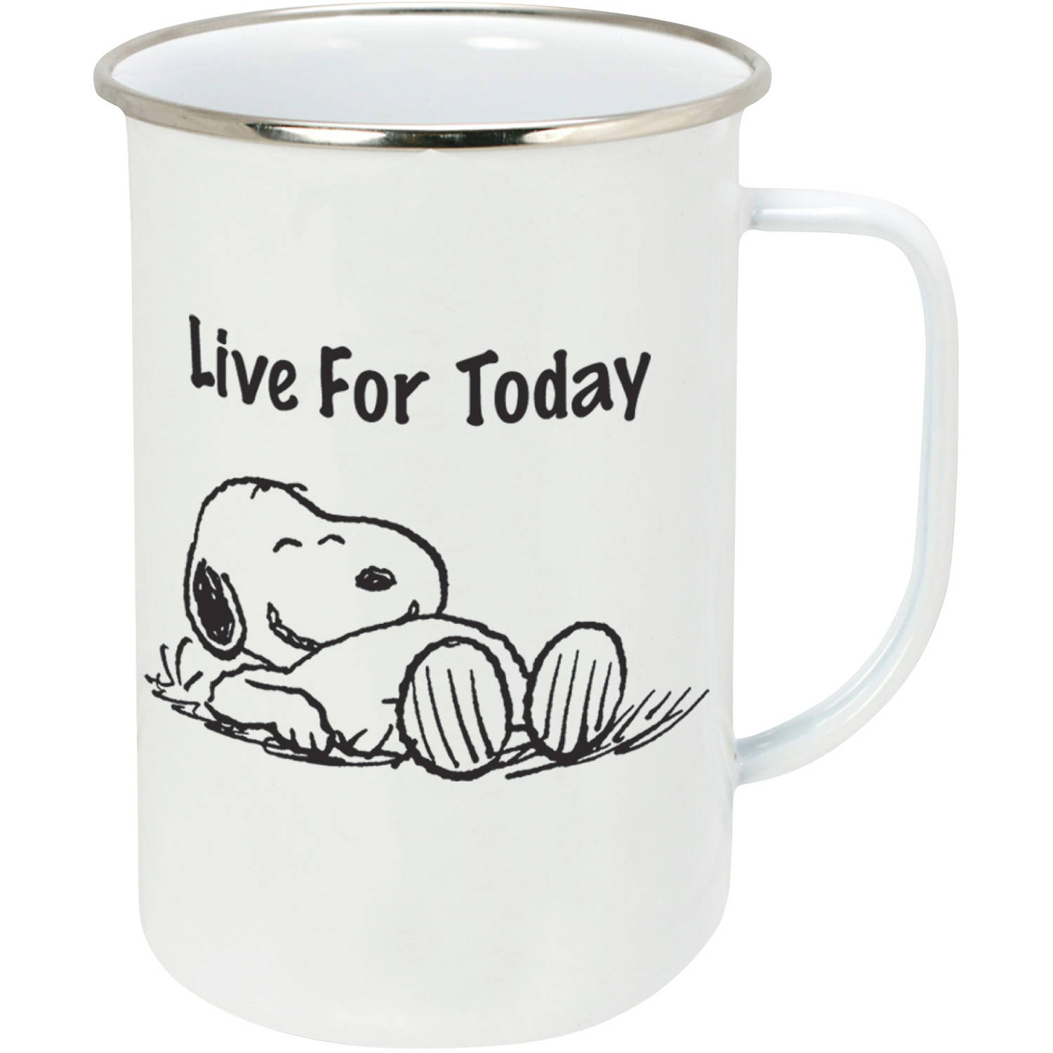 Peanuts Live For Today 20-Ounce Enamelware Mug