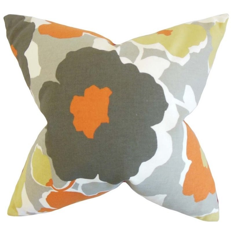 """The Pillow Collection 20"""" Square Saar Floral Throw Pillow"""