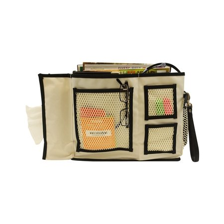 8 Pocket Bedside Caddy Storage Organizer for Books,Phones,Tablets,and TV Remote - Bed And Bath Store