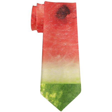 Watermelon Seeds Summer All Over Neck Tie - Watermelon Suit