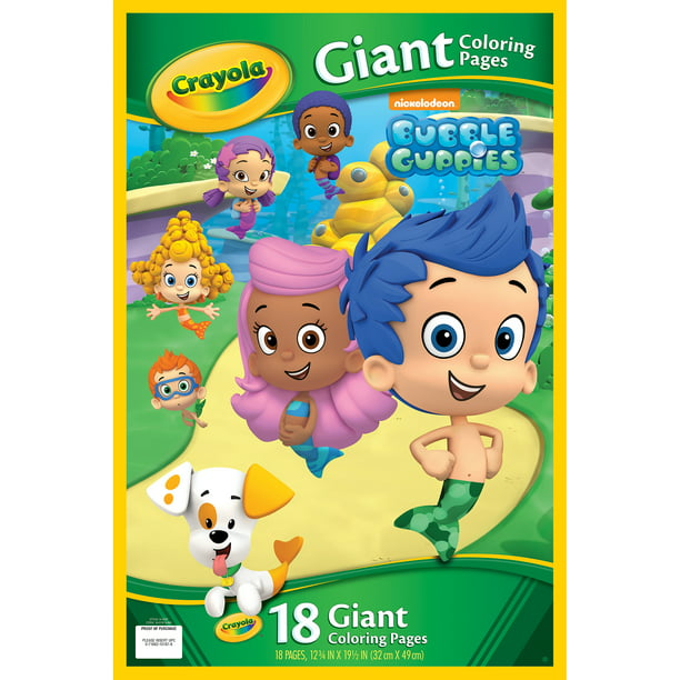Crayola Giant Coloring Pages, Bubble Guppies - Walmart.com ...