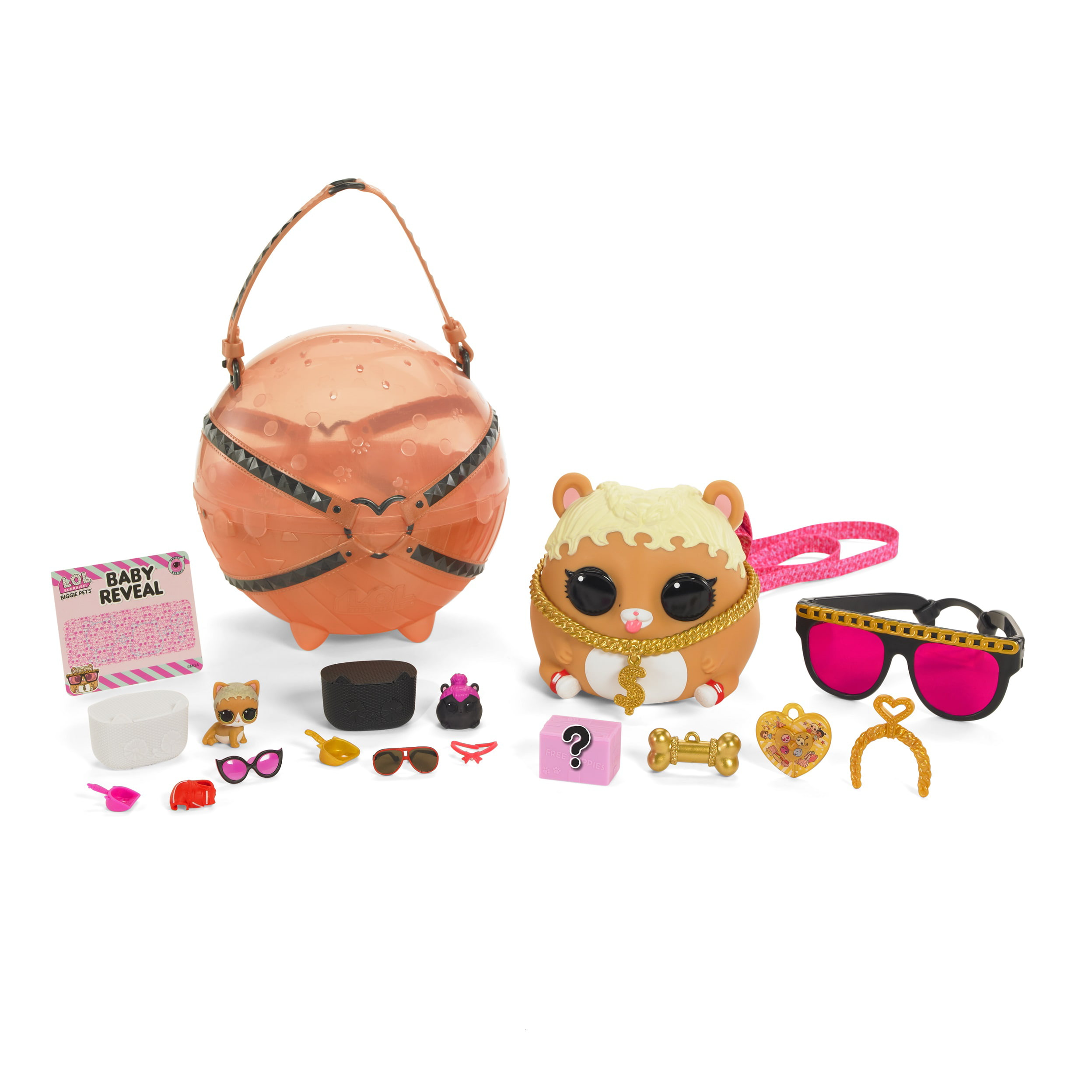 Surprise MC Hammy Mini Backpack Toy NEW WITH BOX DAMAGE Biggie Pets L.O.L