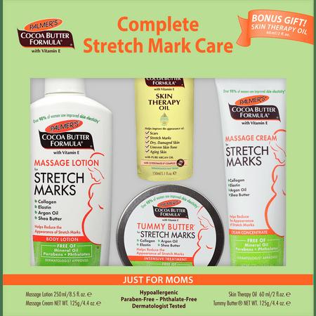 Palmer's Cocoa Butter Formula Complete Stretch Mark & Pregnancy Skin Care Kit Prevent Stretch Marks