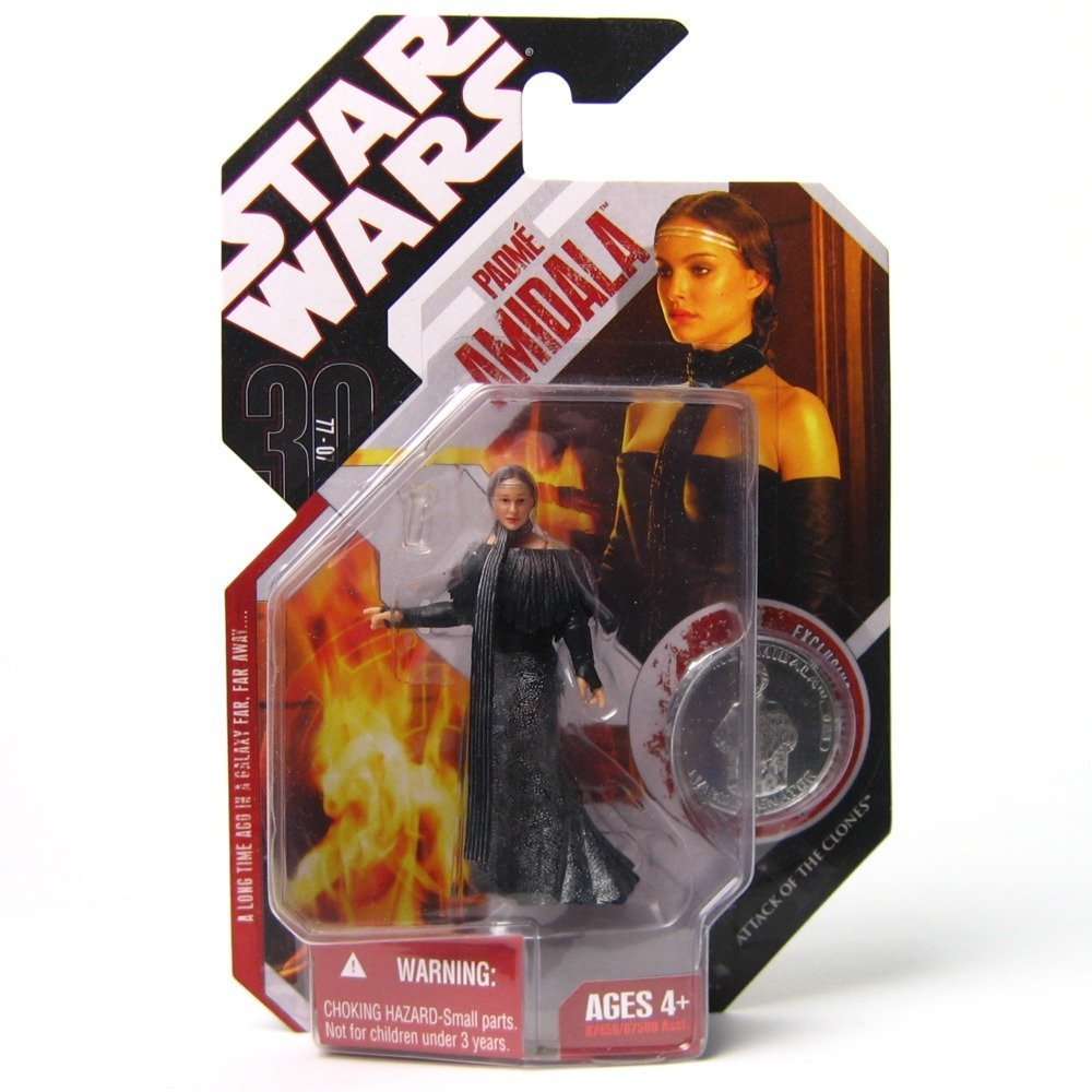 Star Wars 3.75 Basic Figure Padme with Black Leather Outfit, Articulated action Figureure... by