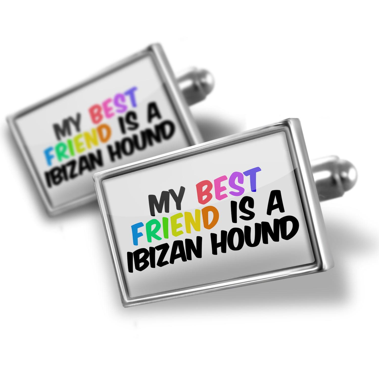 Cufflinks My best Friend a Ibizan Hound Dog from Spain - NEONBLOND