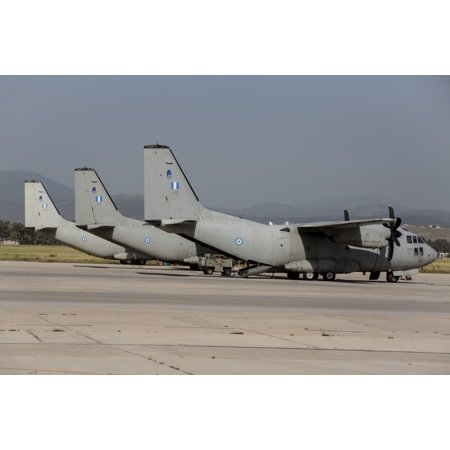 Hellenic Air Force C-27J Spartan transport aircraft at an airbase in Greece Poster Print](Greek Spartan)