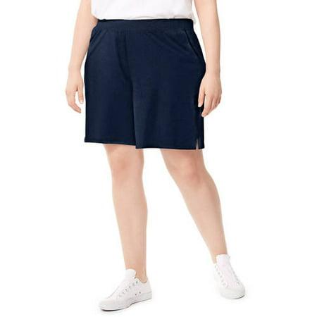 Just My Size Women's Plus Jersey Pocket Short