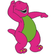 Happy Laugh Barney The Dinosaur Show Mascot TV Show Wall Decals Decor Baby Songs I Love You Purple Dinosaurs Sticker Room Decoration for Bedrooms Vinyl Stickers Sticker Boy Girls Size (20x12 inch)