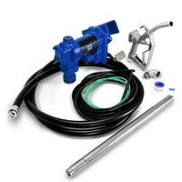 ARKSEN Fuel Transfer Pump 12 Volt 20 GPM Diesel Gas Gasoline Kerosene Car Tractor Truck Discharge Hose Manual Nozzle Suc