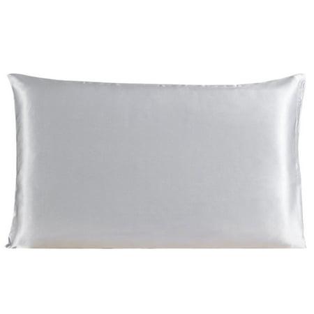 100% Silk Pillow Case Cover Protector Pillowcase Silver Gray