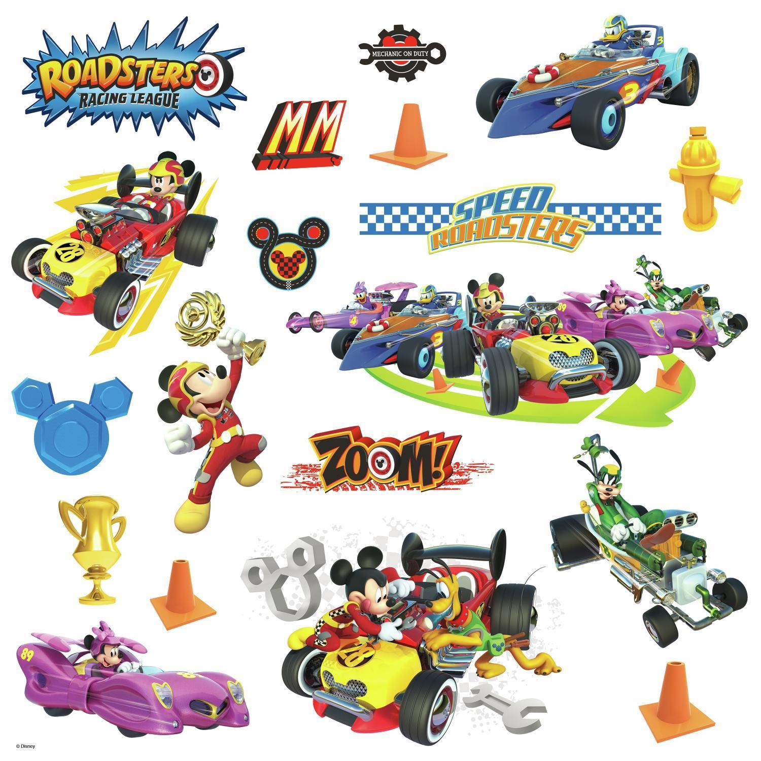 Mickey and the Roadster Racers 3D Wall Decal Removable Disney Wall Sticker