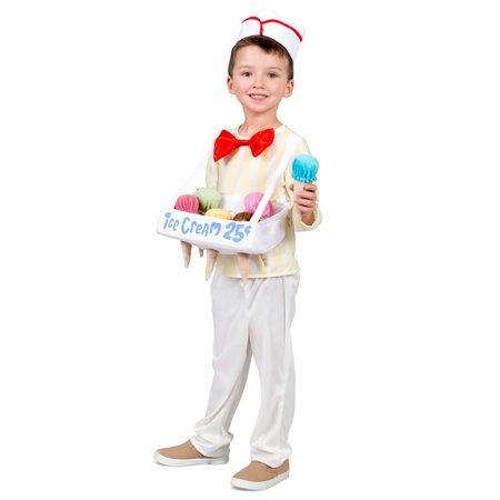 Kids Ice Cream Cone Salesman Halloween Costume - Ice Cream Sandwich Halloween Costume