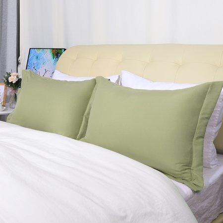 Soft 1800 Microfiber Pillow Shams Set Of 2 Oxford Pillowcases 12 X 16 Inch Sage Green