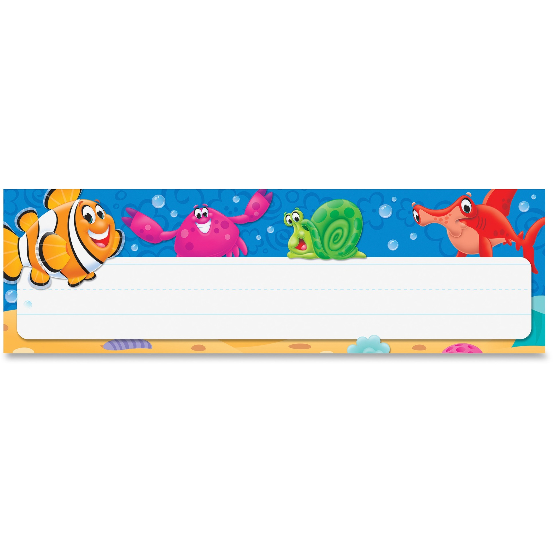 Trend, TEP69243, Sea Buddy Desk Toppers Nameplates, 36   Pack, Multicolor by Trend enterprises, Inc
