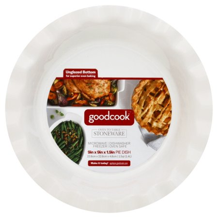 Bradshaw 04159 Good Cook Ceramic Pie Dish, Classic White, 9 Inch