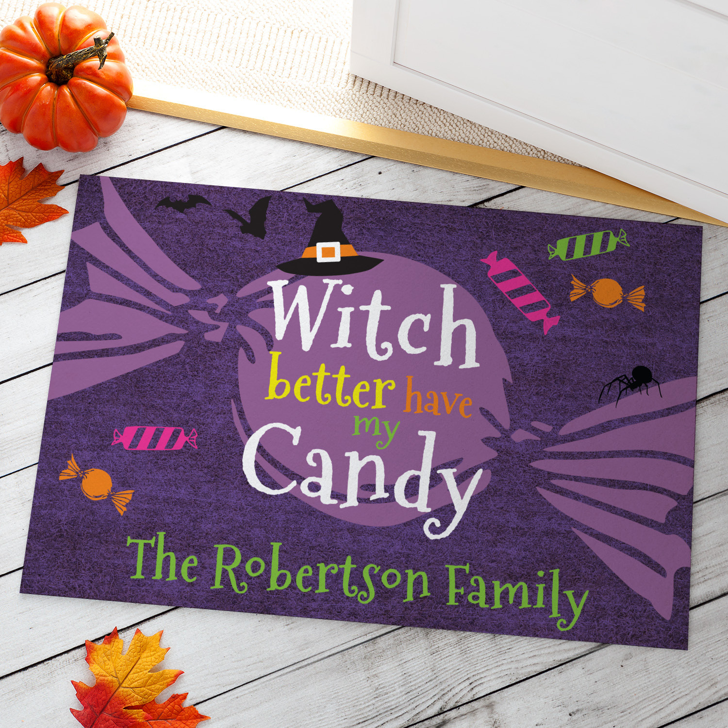 Witch Better Have My Candy Personalized Doormat