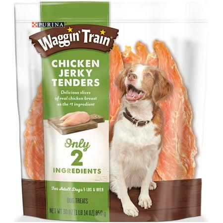 Purina Waggin' Train Chicken Jerky Tenders Dog Treats - 30 oz. Pouch - Hot Dog Halloween Treats