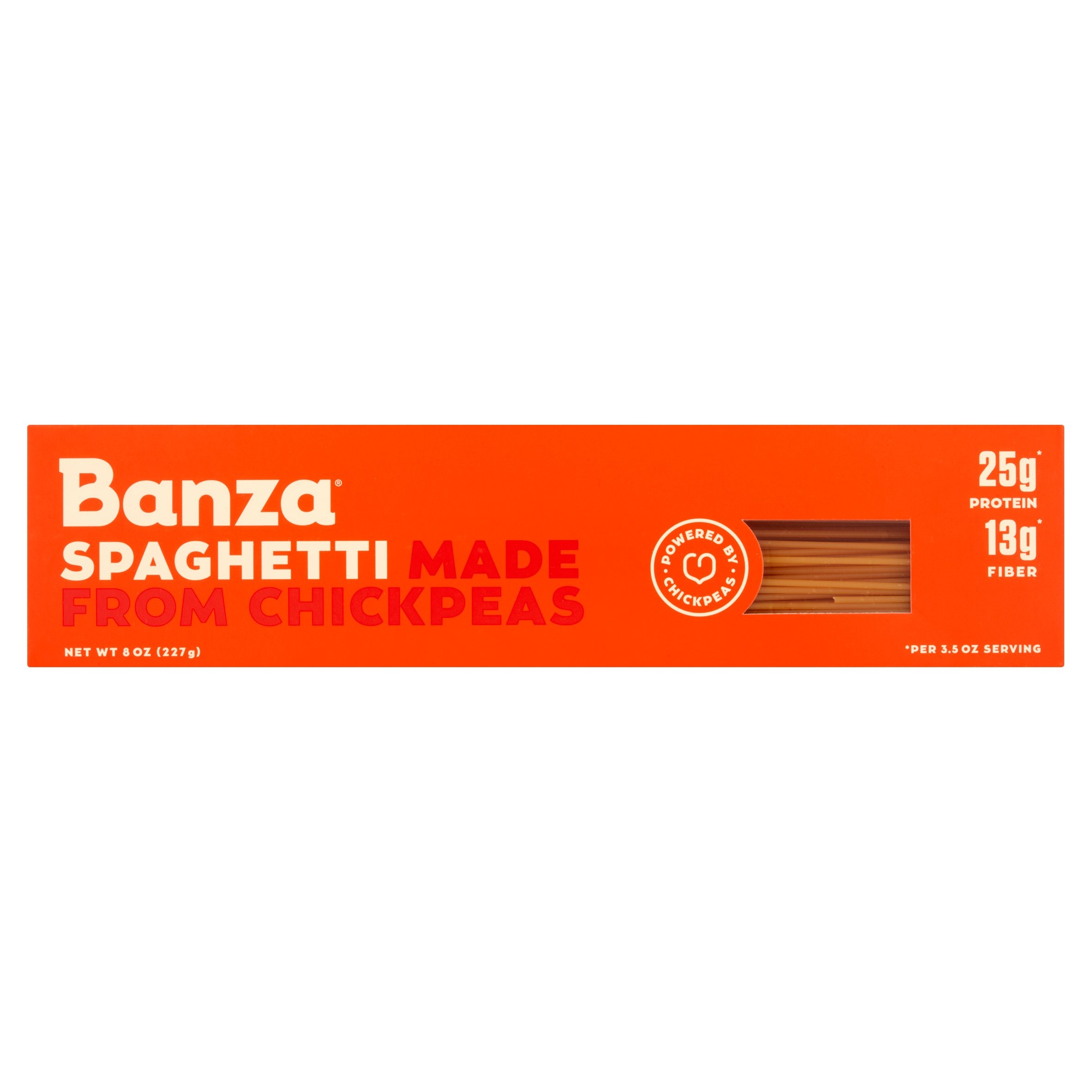 Banza Spaghetti Made from Chickpeas, 8 oz, 12 pack