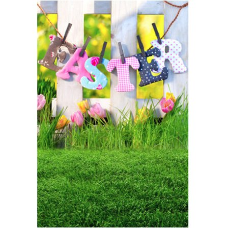 3ft x 5ft Vinyl Nature Grassland Photography Backdrop Easter Theme Background for Studio Photo - Easter Photography Backdrops
