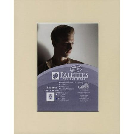 Palettes Pre-Cut Mat- Creme 8x10 Inch (4.5x6.5 Inch Window)