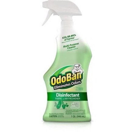 Odor Eliminator, OdoBan 32 OZ Ready-to-Use Disinfectant Fabric and Air Freshener (1, Eucalyptus