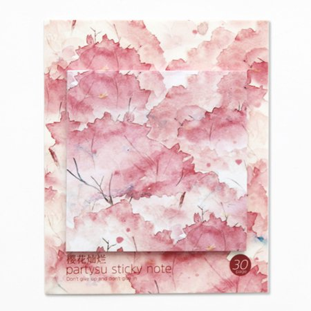 Cherry Blossom Note - Multifunction Beautiful Printing Square Sticky Note Cherry blossom
