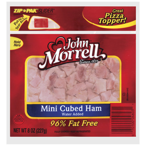 John Morrell Mini Cubed Ham Specialty Cuts, 8 oz