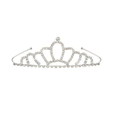 Beistle 60073 Royal Rhinestone Tiara, One Size Fits Most (Silver) - Royal Tiaras